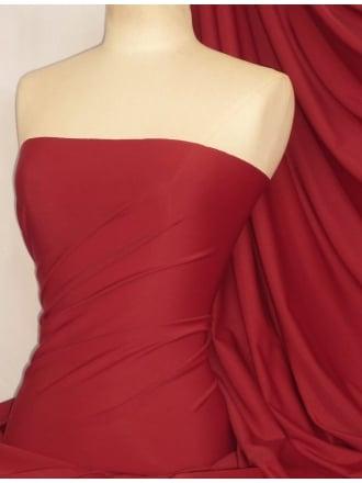 Matt Lycra 4 Way Stretch Fabric- Deep Red Q56 DPRD