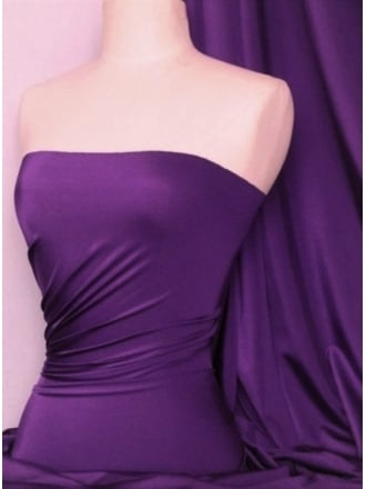 Shiny Lycra 4 Way Stretch Material- Dark Purple Q54 DKPPL