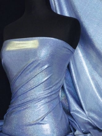 Mystique Hologram Foil Nylon Lycra Stretch Fabric- Royal Blue Q781 RYBL