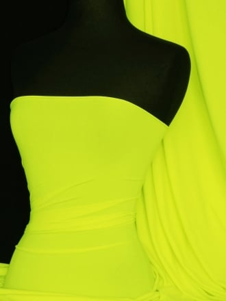 Matt Lycra 4 Way Stretch Fabric- Neon Yellow Q56 NYL