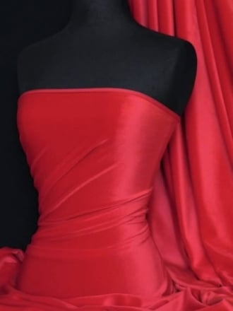 Steam Velvet Stretch Fabric- Tomato Red SV157 TRD