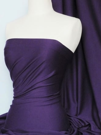 Clearance 100% Cotton Interlock Knit Soft Jersey T-Shirt Fabric- Dark Purple SQ175 DKPPL