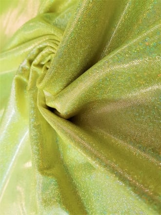 Mystique Hologram Foil Nylon Lycra Stretch Fabric- Flo Yellow Q781 FLYL