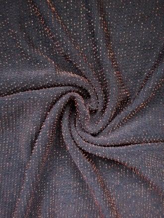 Slinky Shimmer 4 Way Stretch Fabric- Black/ Copper Q1183 BKCOP