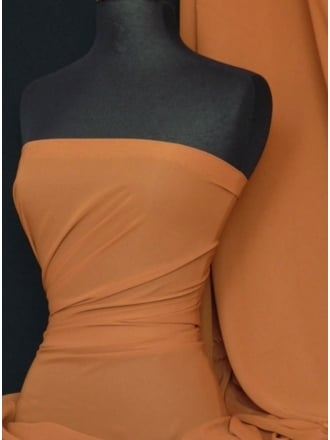 Chiffon Soft Touch Sheer Fabric Material- Copper Q354 COP