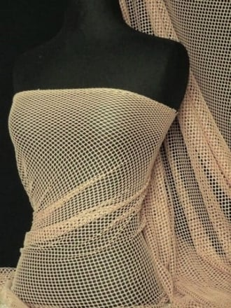 Fishnet (6mm) 4 Way Stretch Material- Stone Q319 STN