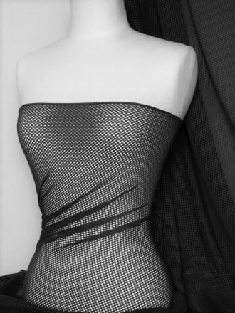 Fishnet 2mm 4 Way Stretch Material- Black Q317 BK
