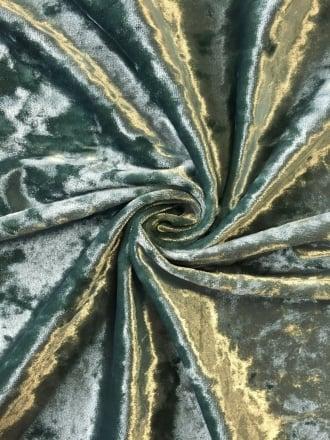 Marble Texture Velvet Lycra 4 Way Stretch Fabric- Duck Egg Q172 DUBL