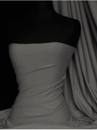 Cotton Lycra Jersey Light Weight 4 Way Stretch Fabric - Storm Grey Q1140 STMGR