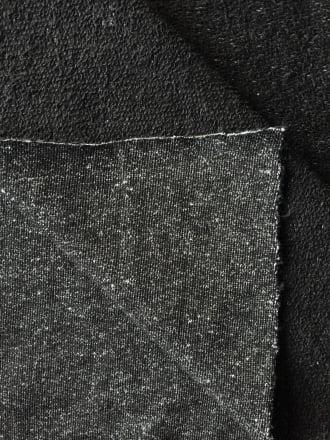 Sweatshirt Loop Back Marl Effect Cotton Stretch Material- Black SQ200 BK