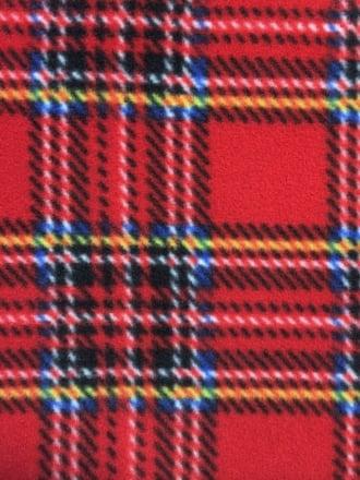 Polar Fleece Anti Pill Washable Soft Fabric- Old School Tartan Red Q1406 RDMLT