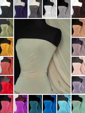 Silk Touch 4 Way Stretch Jersey Lycra Dressmaking Fabric Q53