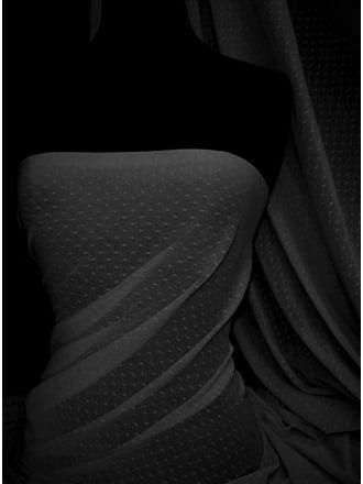 Helenka Mesh Spot Sheer Stretch Material- Black SQ37 BK