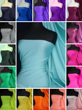 Shiny Lycra 4 Way Stretch Dressmaking Fabric Q54