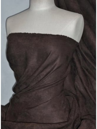 Suedette Suede Look Fabric Material- Brown Q835 BR