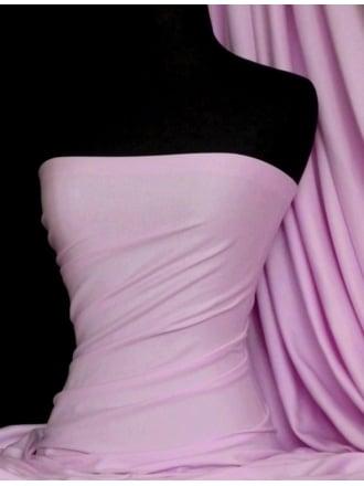 100% Cotton Interlock Knit Soft Jersey T-Shirt Fabric- Pinky Lilac Q60 PNLIL