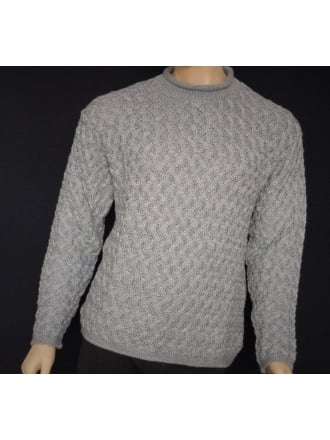 MEN'S Grey Basket Weave Jumper- CV6 GRY