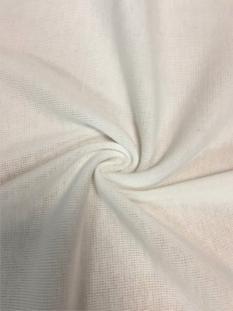 Clearance 2 x 2 Acrylic Rib Knit Stretch Mid Weight Fabric- Cream SQ100 CRM