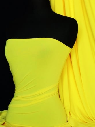 Micro Lycra 4 Way Stretch Fabric - Neon Yellow Q259 NYL