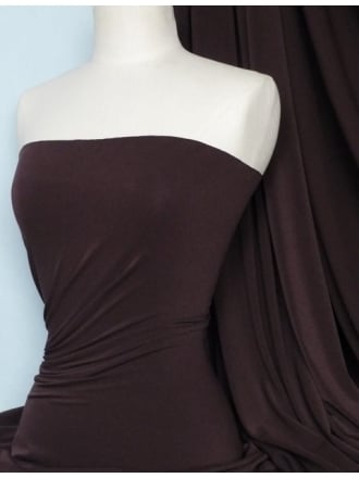 Micro Lycra 4 Way Stretch Fabric - Chocolate Q259 CHC