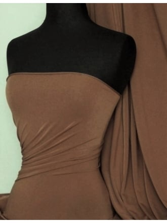 Micro Lycra 4 Way Stretch Fabric - Dark Mocha Q259 DKMCH