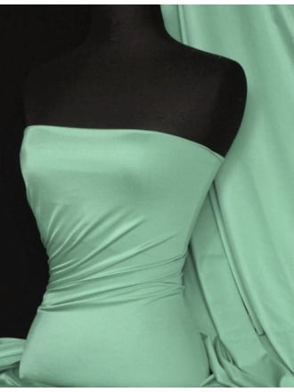 Clearance Shiny Lycra 4 Way Stretch Lightweight Material- Soft Mint SQ68 SMNT