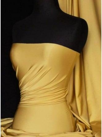 Shiny Lycra 4 Way Stretch  Material - Light Gold Q54 LGLD