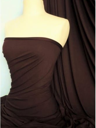 Viscose Cotton Stretch Lycra Fabric- Brown Q300 BR