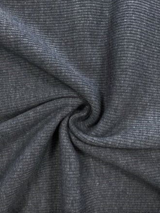 100% Cotton Jersey 2 x 2 Rib Knit Fabric- Platinum Q1007 PLT