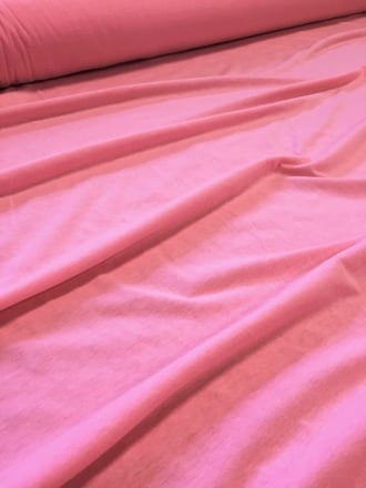 20 METRES Clearance Single Jersey Knit 100% Light Cotton T-Shirt Lightweight Material Job Lot Bolt- Pretty Pink JBL22 PTPN
