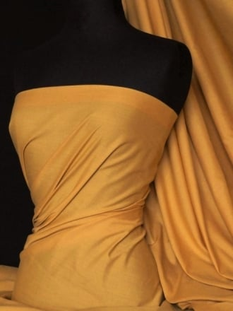 Poly Cotton Material- Dark Mustard Q460 DMST