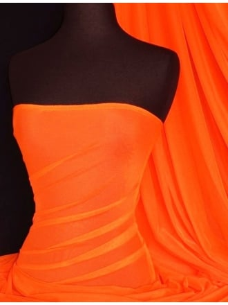 RS Power Mesh Material- Flo Orange RS908 FLOR