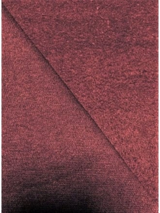 Clearance Sweatshirt (210 cms) Fleece Backed Cotton Super Soft Fabric- Burgundy SQ214 BURG