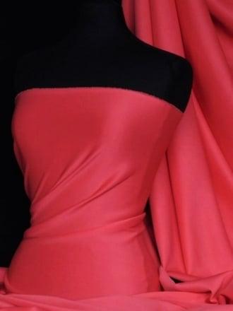 Scuba Stretch Poly Lycra Fabric- Pink Valentine Q792 PN