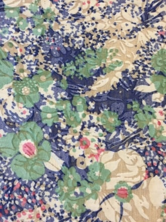 Poly Viscose Light Weight Sheer Burnout Stretch Fabric- Blue/Green Hawaiian Florals Q1208 BLGRN