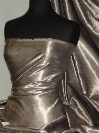 Satin Crushed Charlotte Crinkle Look Creased Fabric- Cloud Grey STN63 CGR