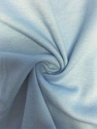 Soft Fine Rib (200 cms) Cotton Elastane 4 Way Stretch Material- Powder Blue SQ220 PBL