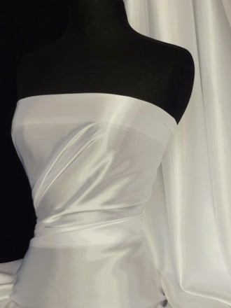 Clearance Satin Non-Stretch Lightweight Sheer Material- Ivory SQ210 IV