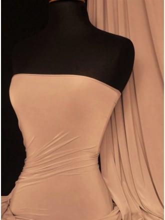 Clearance Silk Touch 4 Way Stretch Lycra Fabric- Cocoa Blush SQ110 CBLSH
