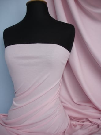 Soft Fine Rib 100% Cotton Knit Material - Baby Pink Q61 BPN