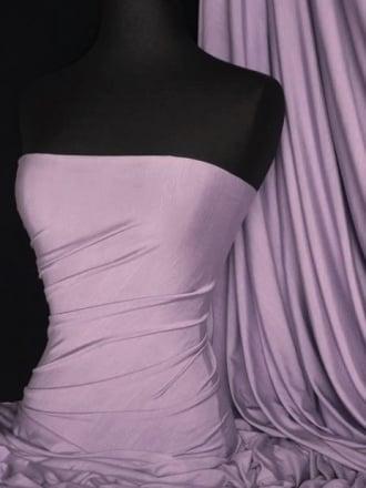 Viscose Cotton Stretch Lycra Fabric- Pale Lilac Q300 PLIL