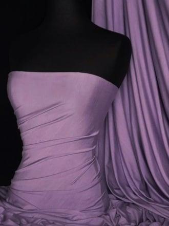Heavy Viscose Cotton Stretch Lycra Fabric- Deep Lilac Q896 DLLC