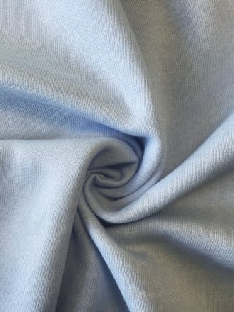 Clearance (1 Metre) Sweatshirt Fleece Backed Super Soft Fabric- Baby Blue SQ240 BBL