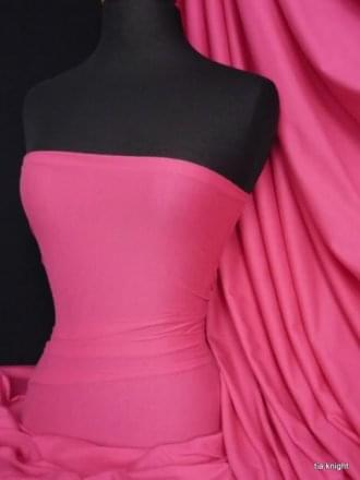 Clearance 100% Cotton Interlock Knit Soft Jersey T-Shirt Fabric- Cerise Pink SQ175 CRS