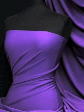 Matt Lycra 4 Way Stretch Fabric- Purple Passion Q56 PPLP
