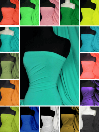Matt Lycra 4 Way Stretch Dressmaking Fabric Q56