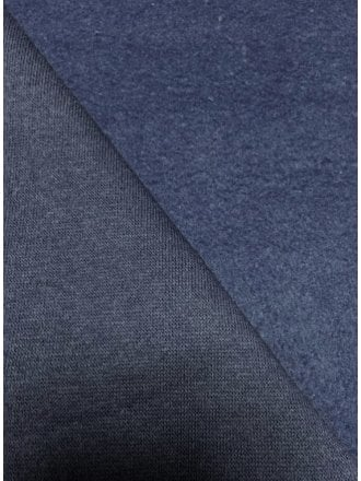 Sweatshirt Fleece Backed Cotton Super Soft Fabric- Midnight Navy Q237 MDNY