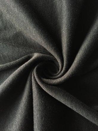 Poly Viscose Rib Stretch Fabric- Black SQ244 BK