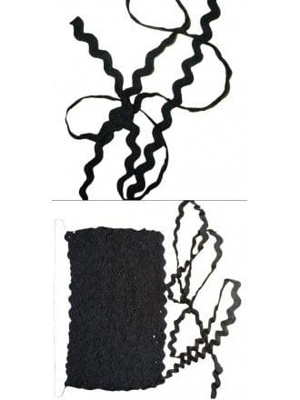 50 Metres Ric Rac Trimming- Black RIC BK