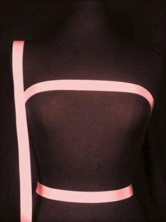 2 Metres Satin Ribbon Trim- Coral Pink SY219 CRL